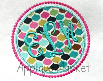 Machine Embroidery Design Applique Circle Frame Beaded INSTANT DOWNLOAD