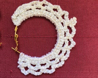 Crochet lace hoops