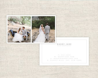 Wedding Photography Business Cards - Photographer Templates - Photo Marketing - Photoshop Files - Photography Branding - INSTANT DOWNLOAD