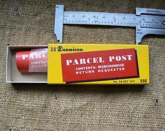 Vintage Dennison Parcel Post Gummed Labels in Box NOS