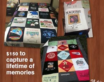 Calling all Runners -T-shirt Blanket, tshirt blanket T-shirt Blanket - Memory Blanket - Custom T-shirt Blanket - Gift for him - Gift for her