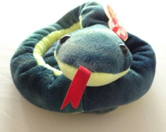 Beanie Babies Hissy The Snake With Tags