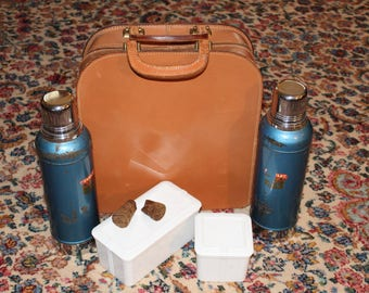 Vintage Stanley Super Vac Thermos Set