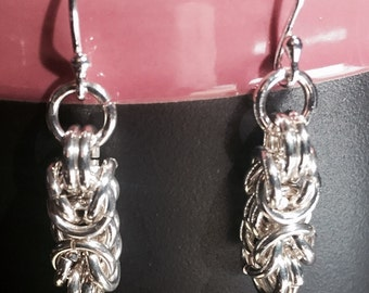 Sterling Silver Byzantine Earrings