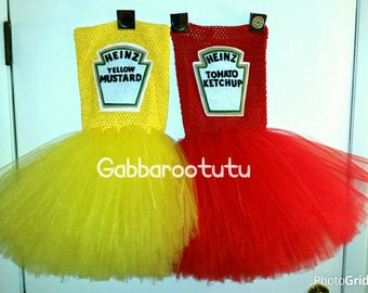 Ketchup mustard or relish tutu dress