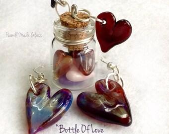 Bottle Of Love~Necklace & Earring Set