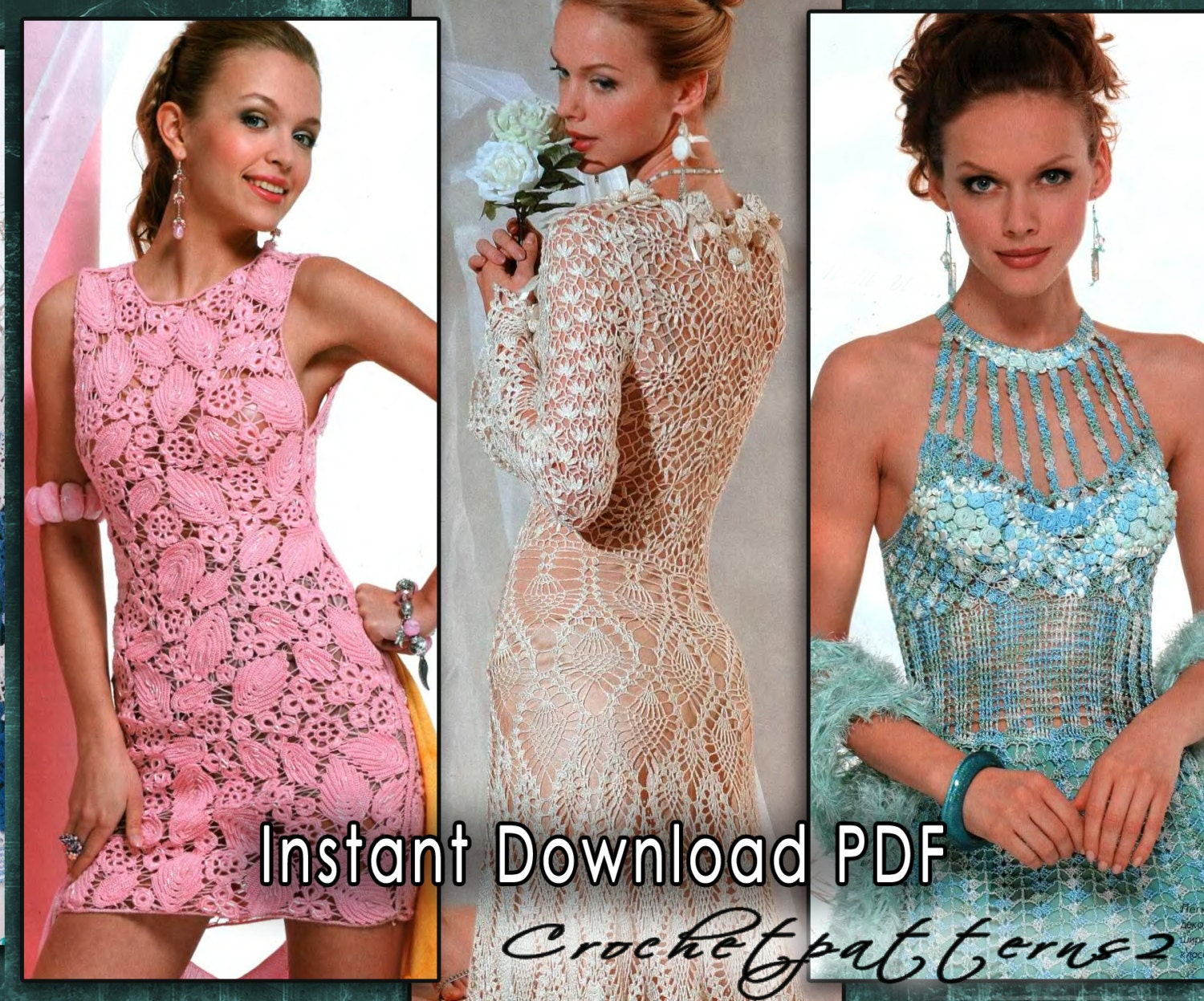 Magnificent Free Crochet Wedding Dress Patterns Collection - Sewing ...