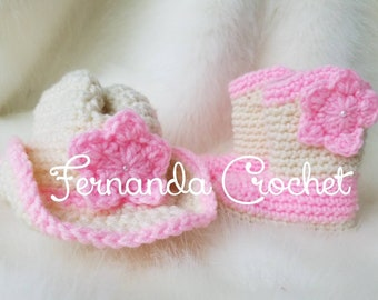 newborn cowboy/cowgirl boots and hat