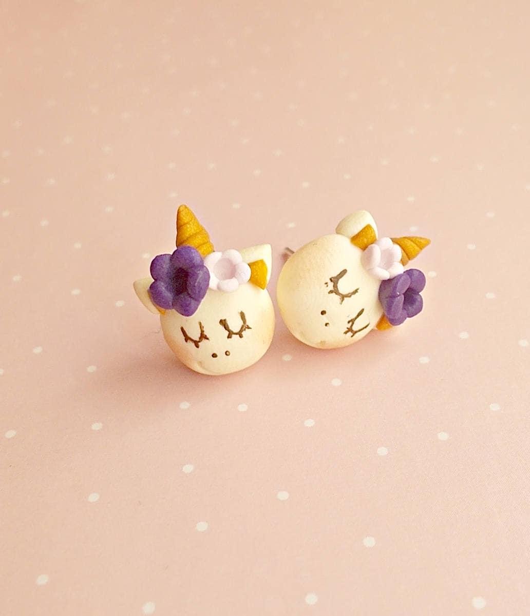 Unicorn Earrings Unicorn Stud Earrings Kids Earrings