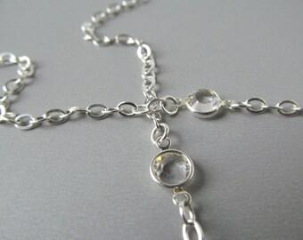 Silver Eyeglass Chain - Swarovski Crystal - Reading Glasses Chain - Eyeglass Necklace - Eyeglass Holder - Mother Gift - Links