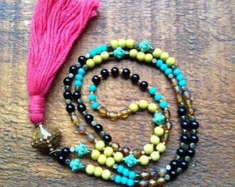 Livraison gratuite pompon Beachy collier Bohème yoga bijoux boho