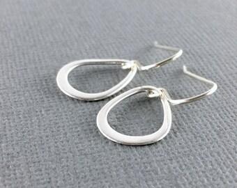 Sterling silver dangle earrings, Small silver teardrop earrings, Simple silver earrings, Sterling drop earrings, Everyday simple minimalist
