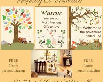 Carter Friends Nursery Prints PERSONALIZED for FREE  wall art décor baby art Ivory, beige, orange, green,match nursery bedding #565