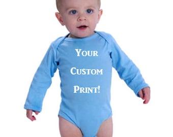 Longsleeve Onesie w/ Custom Print!