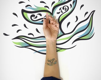 Whale Tail Temporary Tattoo / Decorative Whale Tail Temporary Tattoo / Happy Whale Tail temporary Tattoo / Fish tail Temporary Tattoo