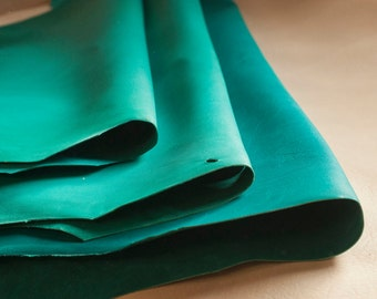 Green Goat Craft Leather - Vegetable Tanned & Aniline Dyed
