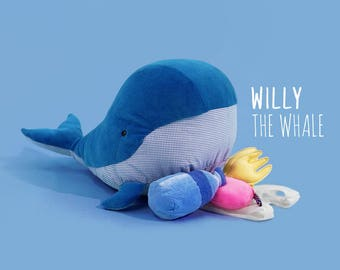 Pollutoy, Willy the Whale, Educational Toy, Plush Whale Toy, Stuffed Whale