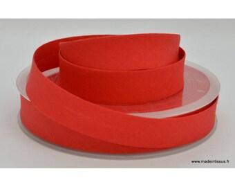 Bias folded 18 mm cotton plain Red