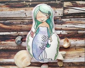 Mermaid Plush, mermaid plushie, mermaid toy, stuffed doll, soft doll, mermaid doll, stuffed mermaid doll