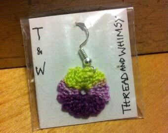 Crochet flower earring - single