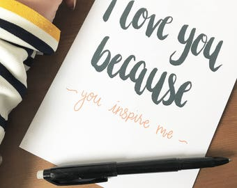 personalised notebook,I love you because,gifts for her,gifts for him,reasons I love you,gifts for mum