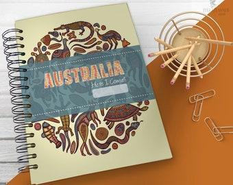 Australia Vacation Planner, Vacation Keepsake, Vacation Planner Book, Vacation Planner Journal, Travel Planner, Travel Journal