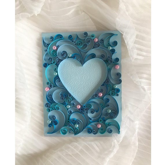 Quilling Valentine S Day Gift Quilling Wedding Card