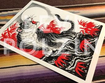 Levi Polzin - Tiger Up print