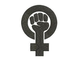 Machine Embroidery Design Instant Download - Black Feminism 1