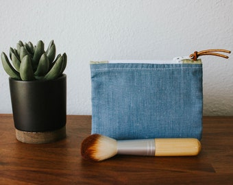Chambray Coin Pouch