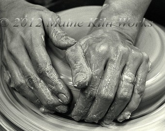 Hands CENTERING Clay on a Potter's Wheel