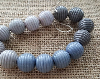 Handmade Lampwork Beads by SweetpeasGlassDesign - Lampwork Glass Beads - Many Shades of Gray....just not Fifty