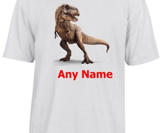 Personalised Dinosaur/T.Rex T Shirt  *Choice of name colours*