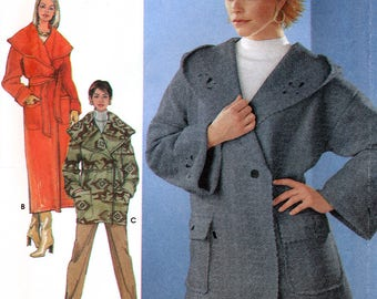 Simplicity 9881 Easy to Sew Sewing Pattern for Misses' Wrap Coat or Jacket - Uncut - Size L, XL