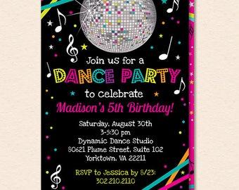 dance party invite Josemulinohouseco