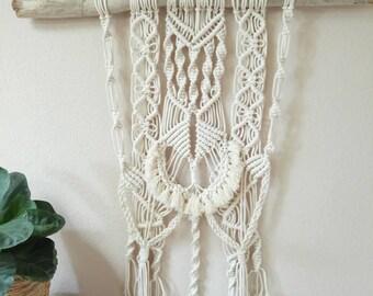 Big Macrame wall dye hanging cotton rope handmade boho style natural