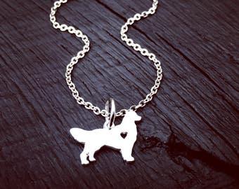 Golden Retriever Charm Necklace | Golden Retriever Jewelry | Jewelry Gift For Golden Retriever Lover | Golden Retriever Rescue | Foster Mom