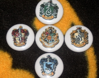 Hogwarts House Logos Pinback Button 1'