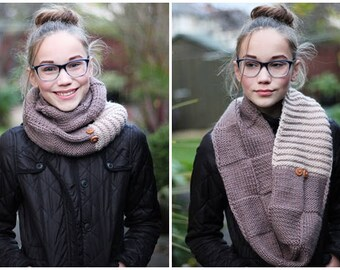 KNITTING PATTERN, scarf patterns for women, teens - Listing42