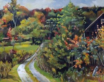 Autumn Explosion in Vermont Oil Landscape Painting