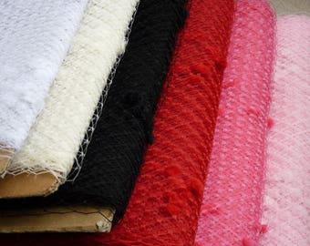 Weekly Promos -- Any color of 2 Yards 9 inches wide with Chenille Dots Russian/French Veiling