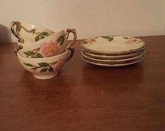 Franciscan Desert Rose Cups & Saucers