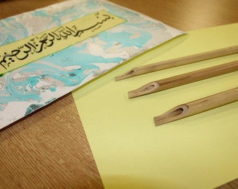 X3 Bamboo Reed Pens For Calligraphy Writing