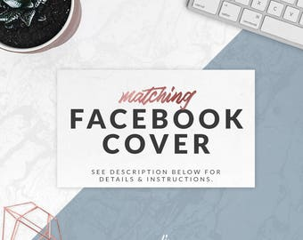 Matching Facebook Cover & Profile Pic Design With Your Premade or Custom Logo Design