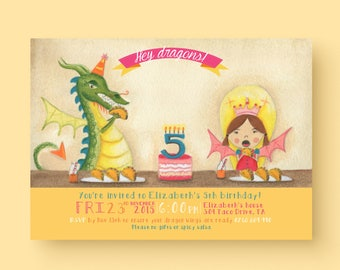 Dragons love Tacos birthday party invitation - inspired from dragons love tacos book