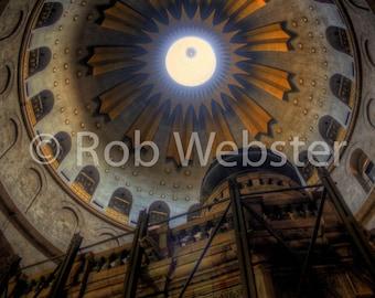 Church of the Holy Sepulchre 12, Jerusalem, 8x10 Fine Art HDR Israel Photo