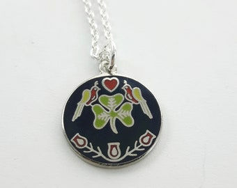 Luck of the Irish Charm Necklace in Silver