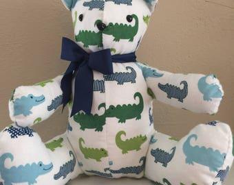 Alligator Print Teddy Bear