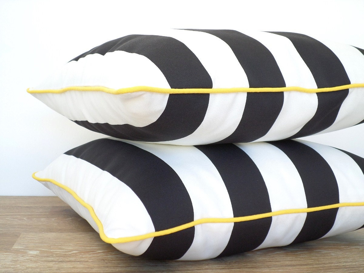 Black And White Outdoor Pillow Cover Black Outdoor Cushion