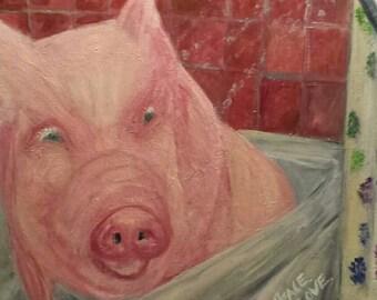 Esther the Wonder Pig 16x20 print